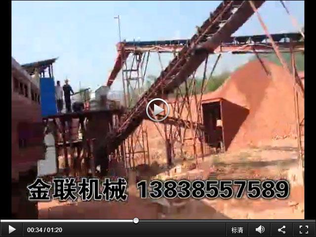 广东砂石生产线现场生产视频_破碎,筛分,洗砂生产线视频