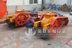 两台小型对辊机和烘干机发货图片_发往湖南永兴_破碎烘干铜渣