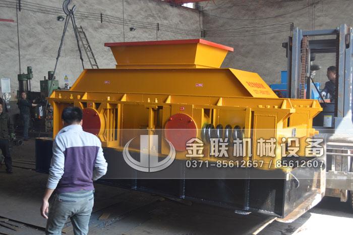 2PG1500X800大型对辊破碎机发货图片_发往陕西汉中_破碎石英砂